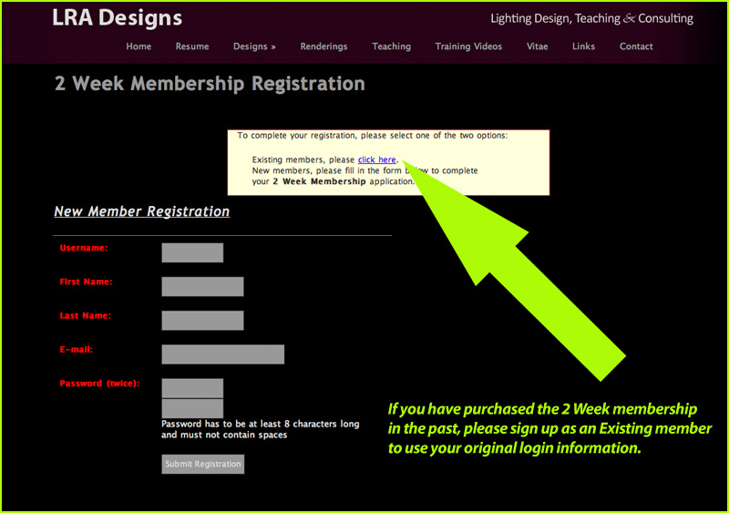 Re-registering for the Vectorworks Tutorials